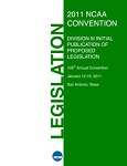 Initial Publication of Proposed Legislation (IPOPL) Submitted by the Division III Membership 105th Annual Convention