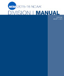 2015-2016 NCAA Division I Manual - AUGUST VERSION