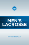 Men's Lacrosse 2017 and 2018 Rules and Interpretations