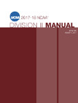 2017-2018 NCAA Division II Manual - AUGUST VERSION - Available August 2017