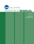 2017-2018 NCAA Division III Manual - AUGUST VERSION - Available August 2017