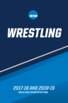 2017-18 and 2018-19 Wrestling Rules and Interpretations (2 Year Publication)