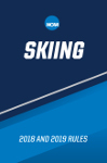 2018 and 2019 NCAA Men's and Women's Skiing Rules