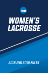 2018 and 2019 NCAA Women's Lacrosse Rules