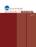2019-2020 NCAA Division II Manual