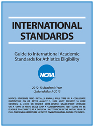 International Standards 2010 - Guide to International Academic Standards for Athletics Eligibility