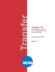 NCAA Transfer Guide - 2013-14