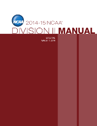 2014-2015 NCAA Division II Manual - AUGUST VERSION