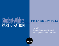 2013-14 NCAA Sports Sponsorship and Participation Rates Report