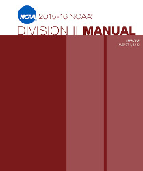 2015-2016 NCAA Division II Manual - AUGUST VERSION