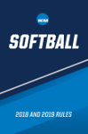 2018 and 2019 NCAA Women's Softball Rules